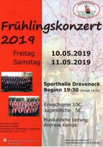Jugendblasorchester Drevenack - Frühlingskonzert 2019 @ Sporthalle Drevenack